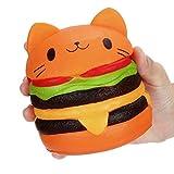 Tpulling Dekompressions-Panda-Burger Neue Jumbo Cartoon Katze Hamburger Duftende Langsam Steigende Exquisite Kind Stofftier