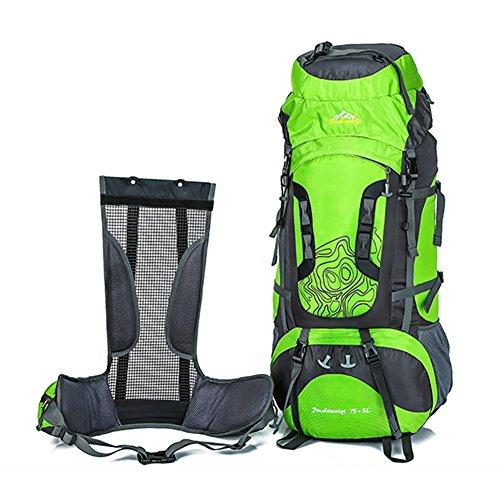 Fastar 80L Wasserdicht Outdoor Sport Hiking Trekking Camping Reise Rucksack Pack Bergsteigen Klettern Rucksack Grün