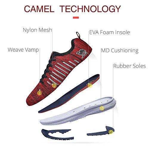 c3f425f0ac277 CAMEL CROWN Scarpe da Corsa per Uomo Donna Scarpe da Ginnastica Leggere  Traspiranti e Leggere da Ginnastica Scarpe Sportive da Trekking Scarpe  Antiurto