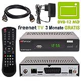 HB DIGITAL DVB-T/T2 SET: Opticum AX500 freenetTV HEVC DVB-T/T2 Receiver AX 500 + HDMI Kabel mit Ethernet Funktion und vergoldeten Anschlüssen (Full HD, HEVC/H.265, HDTV, HDMI, SCART, USB 2.0, LAN Ethernet, SPDIF DVBT DVBT2 DVB-T2 Irdeto Verschlüsselung)