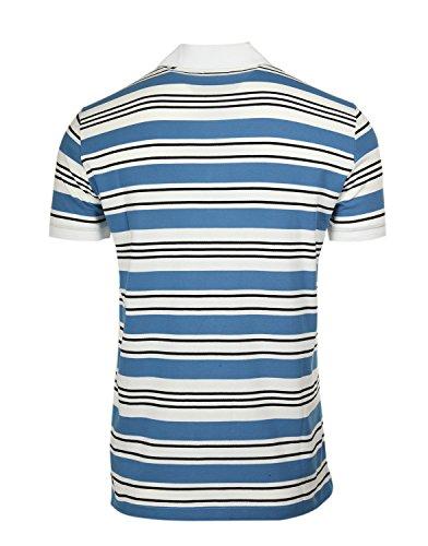 Gianfranco Ferré Polo Shirt Logo Blau/Weiß/Schwarz