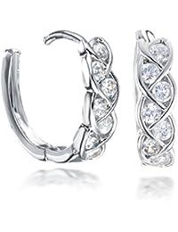 Gemini Women's 18K Filled Crystal Round Hoop Pierced Earrings for Women Valentine's Day Gifts Gift Idea Gm045Rg 3ORgKen33o