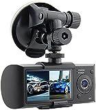 Haoponer 2.7-Inch TFT Car Driving Video Recorder Dash Cam DVR Vehicle Safety Backup Dual Camera GPS Logger G-sensor