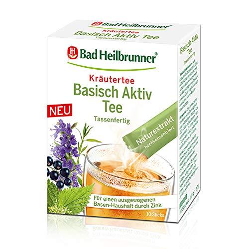 Bad Heilbrunner® Basisch Aktiv Tee, 10 Sticks, 1er Pack -
