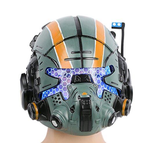 Xcoser Halloween Helm Deluxe Grün Harz Maske mit -