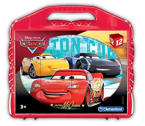 Clementoni- cars 3 puzzle cubi, 12 pezzi, 41185