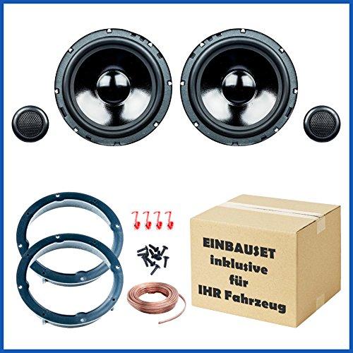 SINUSTEC Set Complet de Haut-parleurs Avant//arri/ère 16,5 cm//165 mm pour Voiture pour VW Volkswagen