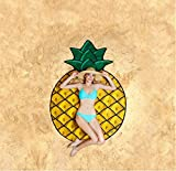 Toalla de playa, diseño de hamburguesa helado frutas ducha toalla manta chal toalla de playa, Pineapple