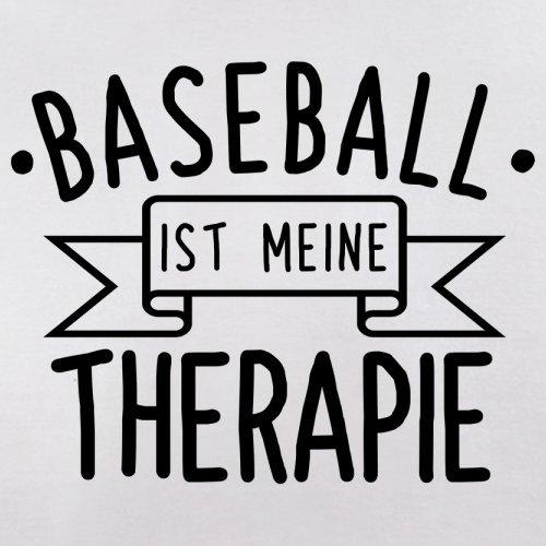 Baseball ist meine Therapie - Damen T-Shirt - 14 Farben Weiß