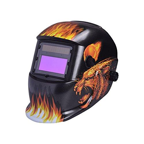 Rosepoem Solar Auto Dimmen Maske Schweißmaske Schweißhelme, Sicherheitsmaske Schutz Produkte Für Schweißer - 1635A Feuer Goldener Leopard