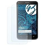 Bruni Schutzfolie für Alcatel One Touch Scribe Easy (8000D) Folie - 2 x glasklare Displayschutzfolie