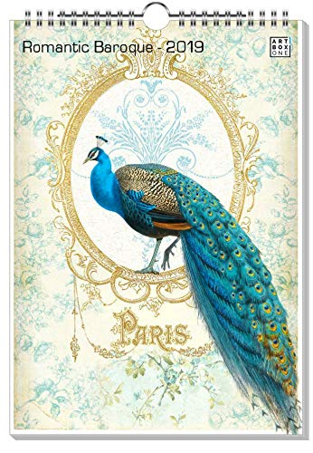 artboxONE Kalender 2019 Romantic Baroque Wandkalender A4 Tiere