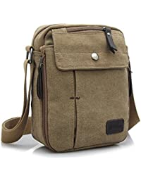 Goatter Canvas And Leather Everyday Use Messenger Bag For Unisex,(Small)