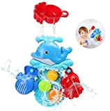 BBLIKE Badespielzeug,Badewanne Spielzeug Baby, Bad Angeln Spielzeug mit Schwimmenden Fisch, Badespaß ab 2 3 4 5 Jahre für Badewanne Dusche Pool