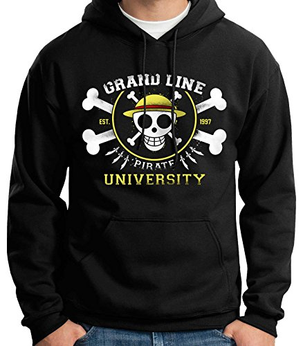 35mm - Sudadera con Capucha Grand Line Pirate University One Piece, Un