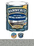 Hammerite Metall-Schutzlack, 250 ml, Hammerschlag Silbergrau, Rostschutz und Lackierung in einem