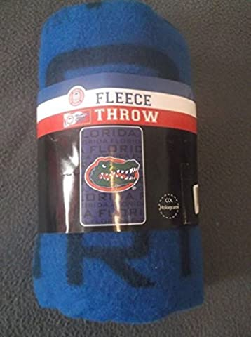 NCAA 062504 Florida Gators Fleece Throw Blanket - 40 x 60 by NCAA