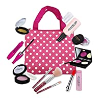 ‏‪IHUKEIT Girls Makeup Toy Set Pretend Play Fake Make Up Kit Simulation Kids Cosmetic Playset Toy Gift for Toddlers Little Girl Age 3 4 5 6 Year Old - Makeup Handbag Included (Not Real Makeup)‬‏