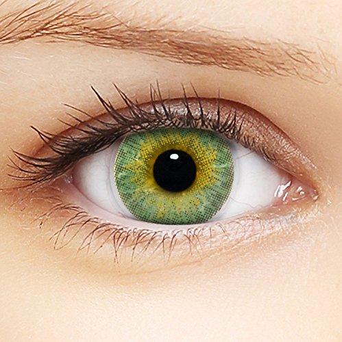 LENZERA BASIC Lenti a contatto colorate 3Tones 'Green' morbide,...