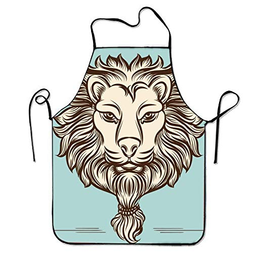 roof Aprons Furry Lion Kitchen Apron for Cooking Gardening ()