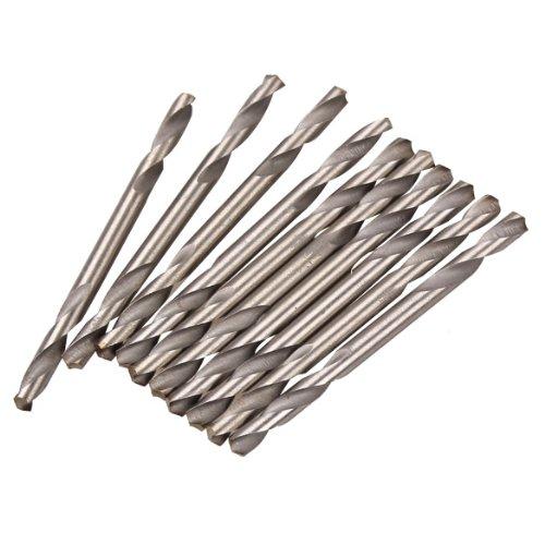 demiawaking 10 3.2 mm Dia. HSS Forets à double extrémité spirale Forets Outils Set