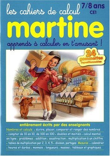 Les cahiers de calcul Martine 7-8 ans