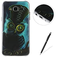 Samsung Galaxy J5/J5 2015 case,Feeltech Flexible Ultra Thin Soft Gel TPU IMD Slim-Fit Bumper Case In-Mold Decoration Technology with Cute Cartoon Lightweight [Shock-Absorption] Elastic Silicone Rubber Skin Protective Back Cover Luxury Fashion Design Print