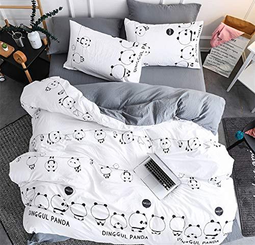 ingo Traumfänger Mond Panda Weiß Grau Rosa Blau Bettbezug und Kissenbezug Polyesterfaser Baumwolle (Panda, 200cm*230cm) ()