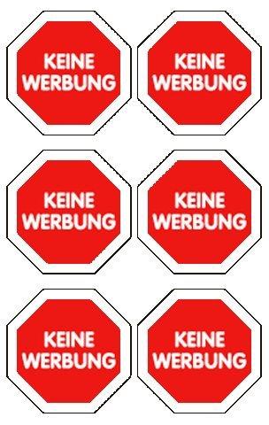 Schmuck-Etikett 76X120Mm Keine Werbung Stopschil