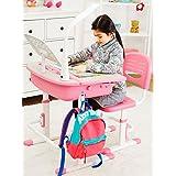 Leomark SMART Escritorio y silla - Regulable Escritorio con Cajón para niños ergonómico el color rosa
