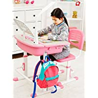 Ergonomic desk with chair for kids School Desk Childrens Study Desk Chair Table Pink