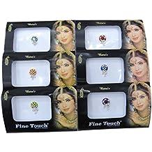 Banithani 6 paquete completo surtido frente diferente bindi multicolor pegatinas tatuaje indio