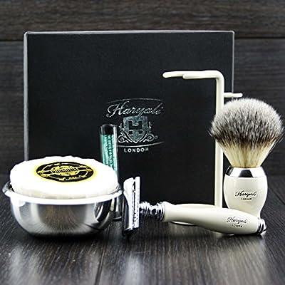 Preimuim Shaving Kit Gift For Men(Safety razor,Brush,Bowl,stand)Branded Box (NO BLADES INCLUDED )