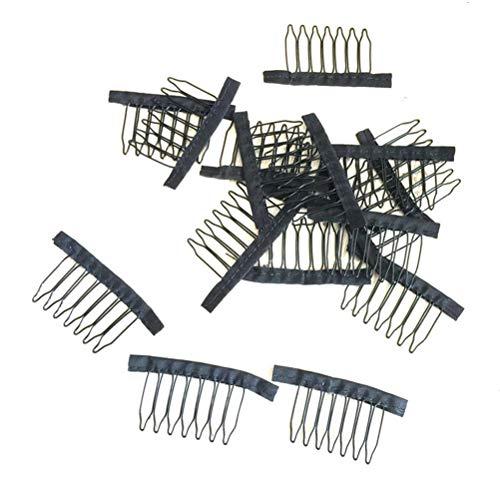 SUPVOX 10 stücke 7 Zähne Perücke Clip Toupee Clips Perücke Kämme Stahl Haarspange Perücke Salon für Damen -