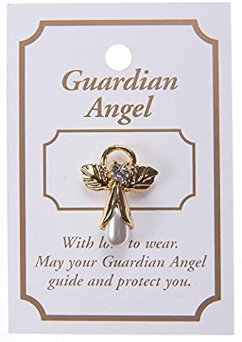 Guardian Angel Lapel Brooch. Angel Lapel Pin. Guardian Angel Charm Brooch