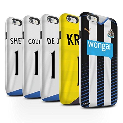 Offiziell Newcastle United FC Hülle / Glanz Harten Stoßfest Case für Apple iPhone 6 / Pack 29pcs Muster / NUFC Trikot Home 15/16 Kollektion Pack 29pcs