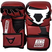 Ringhorns Charger Guantes Sparring de MMA, Unisex Adulto, Rojo, S/M