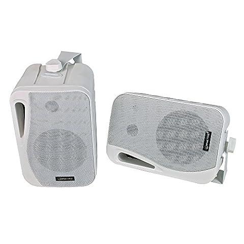 Bass Face SPLBOX.2 400W 4 inch 3 Way Marine Outdoor Box Speakers