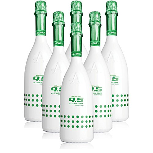 9.5 Cold Wine Alcohol Free Zerotondo Spumante Analcolico Biologico Astoria 6 X 75