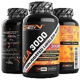 CLA - 180 Kapseln mit jeweils 1000 mg - Hochdosiert mit 3000 mg pro Tagesportion - Laborgeprüft - Konjugierte Linolsäure Fettsäure - Premium Qualität - German Elite Nutrition