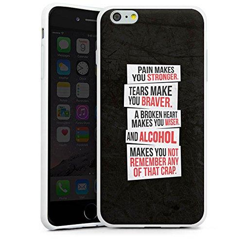 Apple iPhone X Silikon Hülle Case Schutzhülle Sprüche Party Feiern Silikon Case weiß