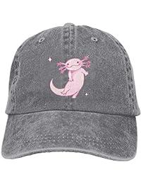 Gorras de béisbol/Hat Trucker Cap Unsiex Fashion Denim Comics Pink Axolotl Adjustable Baseball Cap