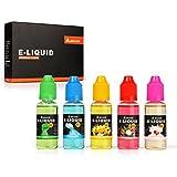Salcar 5 x 20m Premiumset e liquide pour cigarette electronique / E-Cigarette, Sans nicotine ni tabac