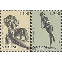 San Marino 1067-1068 (completa.Problema.) 1974 Sculture (Francobolli )