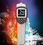 LXFA Termometro Elettronico a Infrarossi da Cucina, Una Varietà di Modalità di Misurazione/Funzione di Allarme per Misurare La Temperatura Dell'olio, Carne, Barbecue