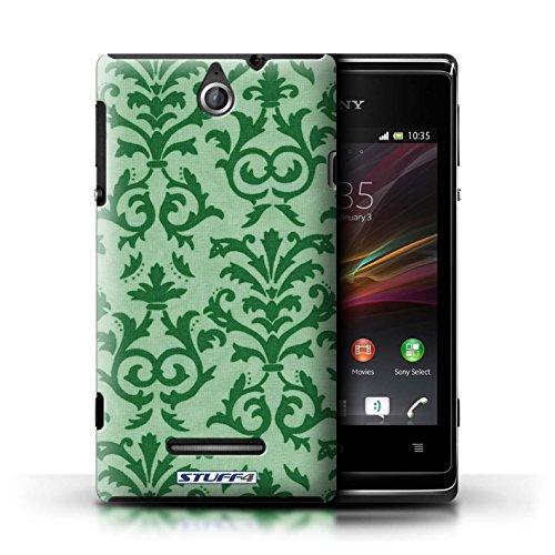 Kobalt® Imprimé Etui / Coque pour Sony Xperia E / Orange conception / Série Motif de défilement Vert