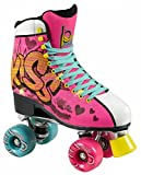 Playlife Melrose Kiss Pop Art Retro Rollschuhe Disco Roller popart, 38