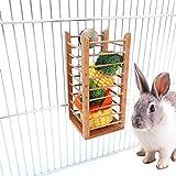 Enjoyyouselves Holz Heu Administrator, Vogelhäuschen Heuhäuschen Kaninchen Holz Stroh Rahmen Futternapf Meerschweinchen Chinchillas Rahmen 6,5 * 6,5 * 14 cm