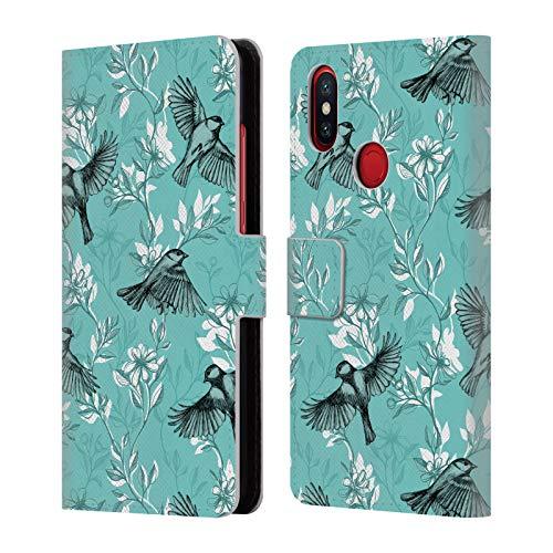 Head Case Designs Offizielle Micklyn Le Feuvre Blumen Und Flug Muster 8 Leder Brieftaschen Huelle kompatibel mit Xiaomi Mi A2 / Mi 6X - A2 Leder-flug