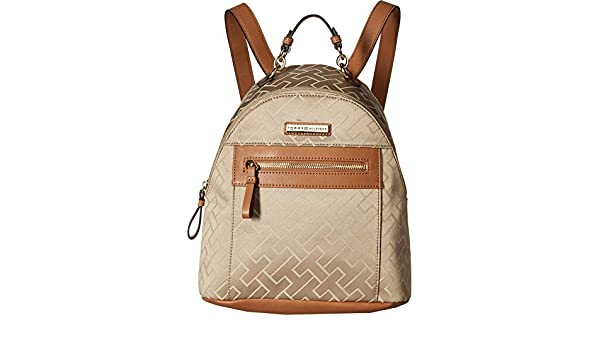 32b4e650f2 Tommy Hilfiger Women s Claudia Dome Backpack Khaki Tonal One Size  Amazon.in   Sports